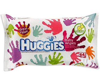 HUGGIES Hands Toallitas húmedas bebé, recambio 64 Unidades