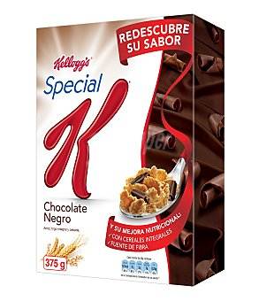 KELLOGG'S SPECIAL K Cereales con chocolate negro 35% menos grasa paquete 375 g