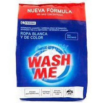 Eroski Detergente en polvo ropa blanca-color Bolsa 20 dosis
