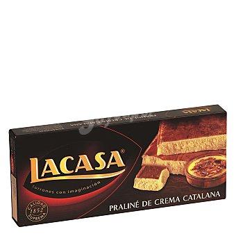 Lacasa Turrón de praliné de crema catalana 225 g