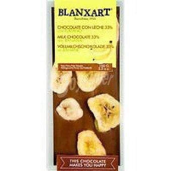 BLANXART Chocolate con leche con banana 100 g