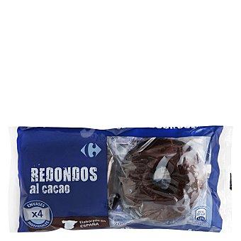 Carrefour Redondos al cacao 4 unidades