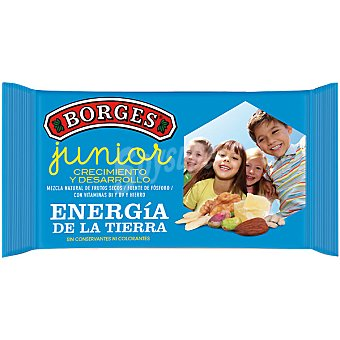 Borges Junior mezcla natural de frutos secos con vitaminas Envase 50 g