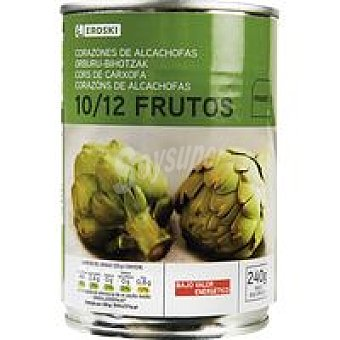 Eroski Corazón alcachofa al natural 10/12 frutos Lata 240 g
