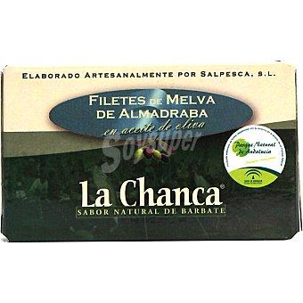 LA CHANCA Filetes de melva de Almedraba en aceite de oliva Lata 85 g neto escurrido