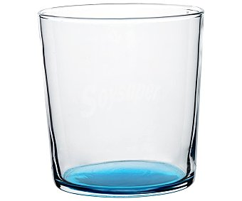 Luminarc Vaso de pinta de 0,36 litros con base de color azul turquesa, LUMINCARC. 0,36 litros