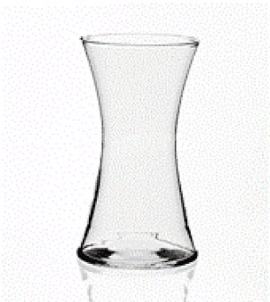Cristal Jarron diabolo transparente 25X14