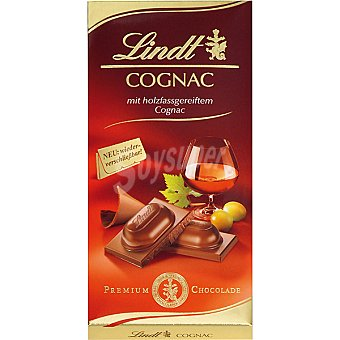 Lindt Chocolate relleno de coñac Tableta 100 g