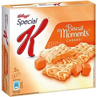 Kellogg's Barritas de cereales rellenas de caramelo 5 biscuits Biscuits Moments Estuche 125 g