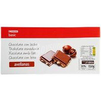 Eroski Chocolate con leche-avellana Tableta 150 g