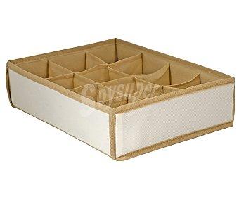 Home Caja organizadora de tela con 12 compartimentos, 35x27x9 centímetros 1 unidad
