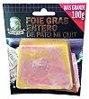Foie gras pato entero cocido mi cuit Paquete 100 g Martiko