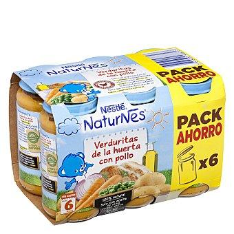 Naturnes Nestlé Tarrito de puré de verduras y pollo Pack 6 x 250 g