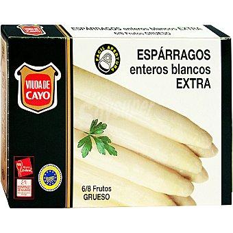 Viuda de Cayo Espárragos blancos D.O. Navarra extra 6-8 piezas Lata 125 g neto escurrido