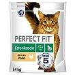 Pienso esterilizado de pollo para gatos Perfet 1,4 kg FIT