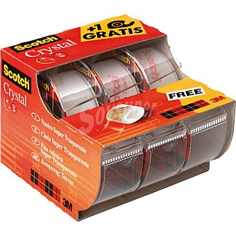 SCOTCH Crystal Cintas adhesivas super transparentes +1 gratis Pack de 2