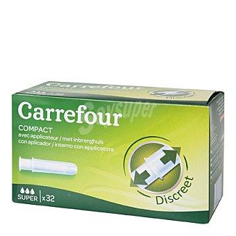 Carrefour Tampones con aplicador Super 32 ud