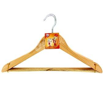 Auchan Perchas de madera infantil 3 Unidades