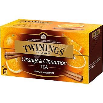 Twinings Té con naranja y canela 25 bolsitas estuche 50 g
