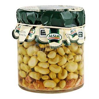 Alsur Habas fritas baby con jamon frasco 150 g