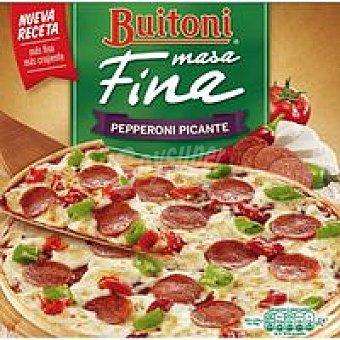 Buitoni Pizza masa fina de pepperoni picante Caja 320 g