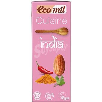 Ecomil Cuisine India crema vegetal ecológica para cocinar sin gluten  envase 200 ml