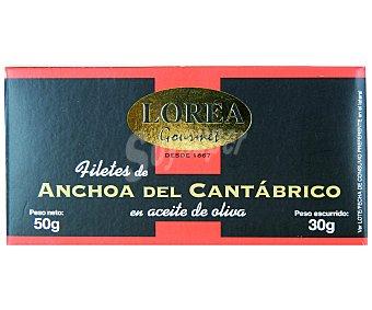 LOREA Filetes de Anchoa en Aceite de Oliva 30 Gramos Peso Escurrido
