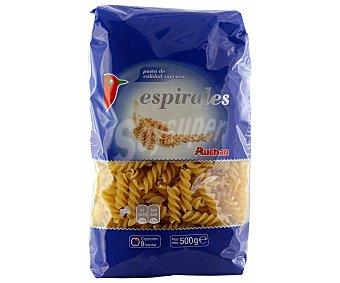 Auchan Pasta espirales Paquete de 500 gr