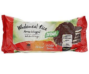 Santiveri Tortitas de arroz integral bañadas en chocolate negro  Paquete 8 unidades