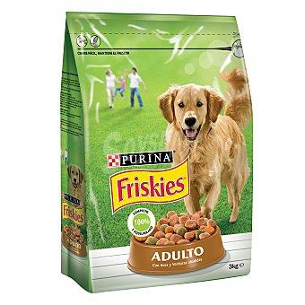 Friskies Purina Comida para perros adulto con Aves y Verduras 3 kg