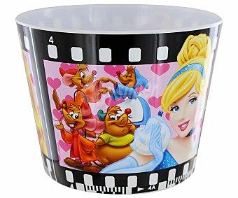 DISNEY Cuenco grande para palomitas de polipropileno con ilustraciones de Princesas Disney en tira cinematográfica 1 Unidad
