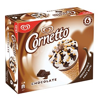 Cornetto Frigo Conos de nata con chocolate 'cornetto' 6x93 ml