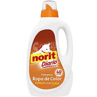 Norit detergente máquina líquido ropa de Color botella 40 dosis