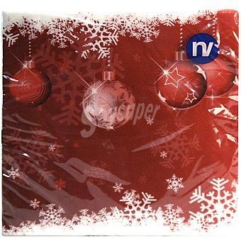 NEW WAVE Soft decorado de Navidad 38x38 cm Paquete 20 unidades