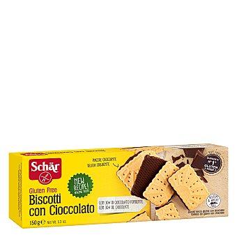 SCHAR Galletas con chocolate sin gluten envase 150 g
