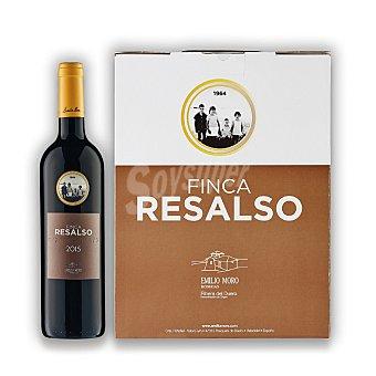 """Finca Resalso Lote 100: Estuche de vino D.O. """"ribera del Duero"""" tinto barrica 4 meses Pack 3x75 cl"""
