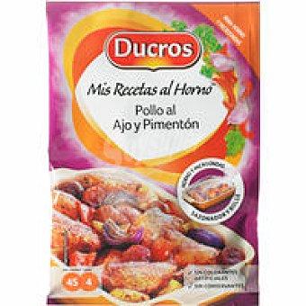Ducros Sazonador de pollo al ajo-pimentón Frasco 28 g