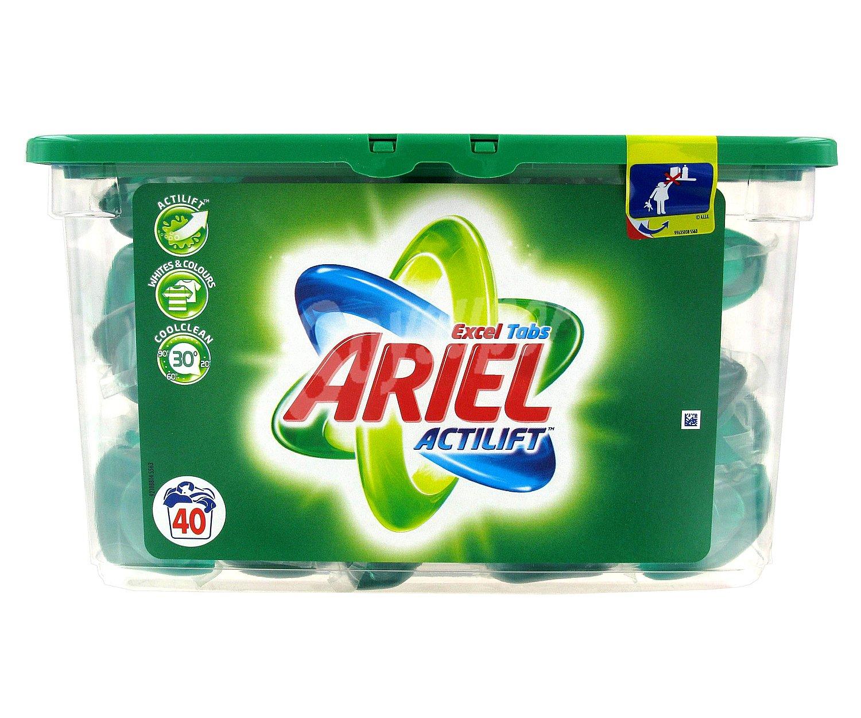 Ariel excel detergente en c psulas regular 40 dosis - Jabon natural para lavadora ...