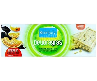 Bicentury Devoragras Galletas multivitaminadas de naranja y chocolate ricas en calcio y fibra  estuche 160 g