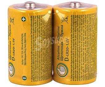 Productos Económicos Alcampo Paquete de 2 pilas alcalinas del tipo D o LR20 alcampo