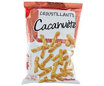 Auchan Aperitivo de snack crujientes sabor cacahuete 90 gramos