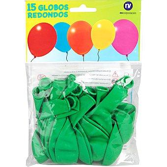 NV. Globos redondos verdes 15 unidades