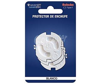 SEVENON Kit de protección de enchufe de para tomacorrientes tipo schuko, sevenon 3 unidades