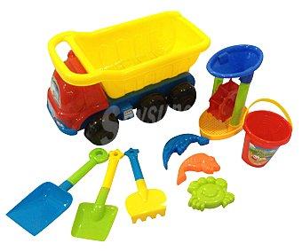 EURASPA Conjunto de juguetes de playa compuesto por un camión + 8 accesorios 1 unidad