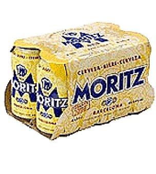 Moritz Cerveza Pack de 6 latas de 33 cl