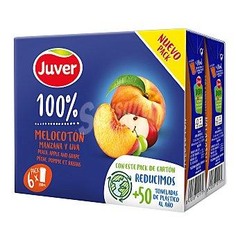 Juver Zumo de melocotón, uva y manzana Pack 6 x 20 cl