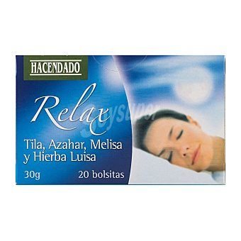 Hacendado Infusión mezcla tila / azahar / Melisa / Hierbaluisa (Relax) 20 bolsitas - 30gr