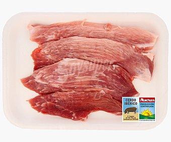 Auchan Producción Controlada Filetes de jamón de cerdo ibérico fresco 500 Gramos
