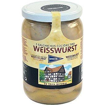 Hipercor Salchichas weisswurst en tripa natural 5 piezas Frasco 300 g