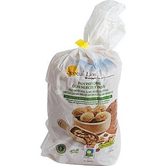 Special Line pan integral en rebanadas con nueces y pasas  envase 500 g